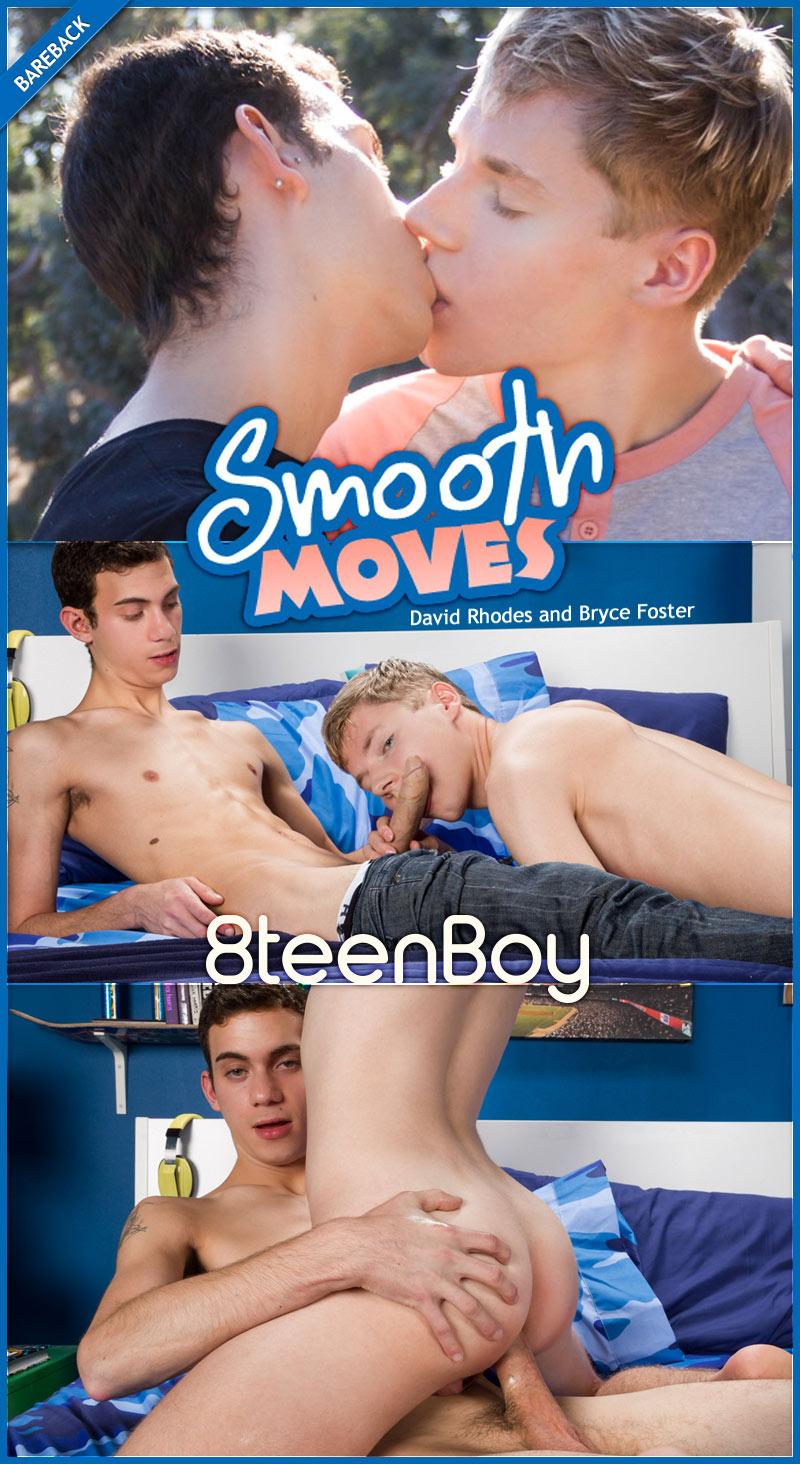 Smooth Moves (David Rhodes and Bryce Foster Flip-Fuck) (Bareback) at 8teenBoy.com