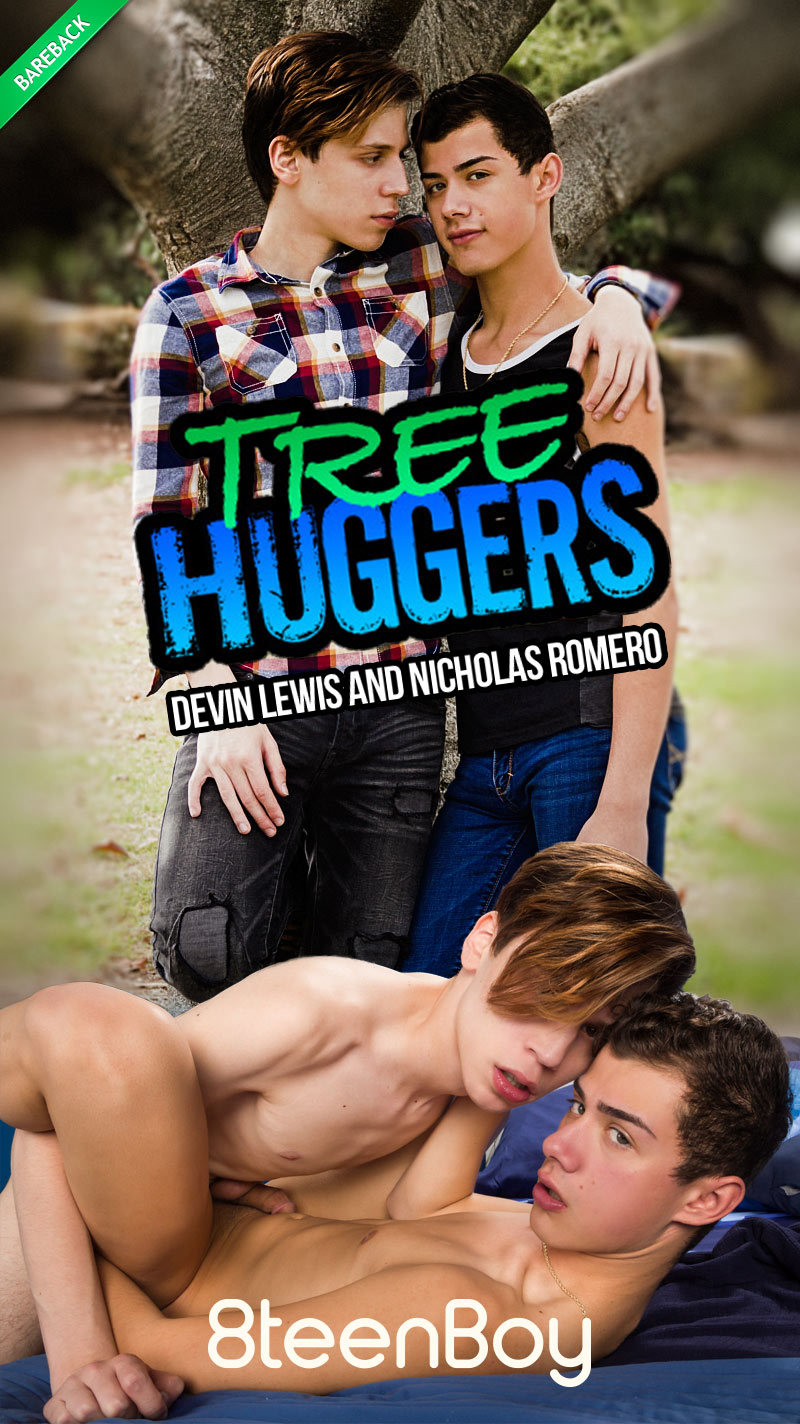 Tree Huggers (Devin Lewis and Nicholas Romero Flip-Fuck) (Bareback) at 8teenBoy.com