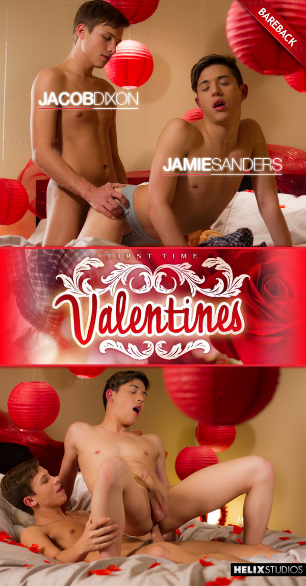 First Time Valentines (Jacob Dixon & Jamie Sanders) (Bareback) at HelixStudios