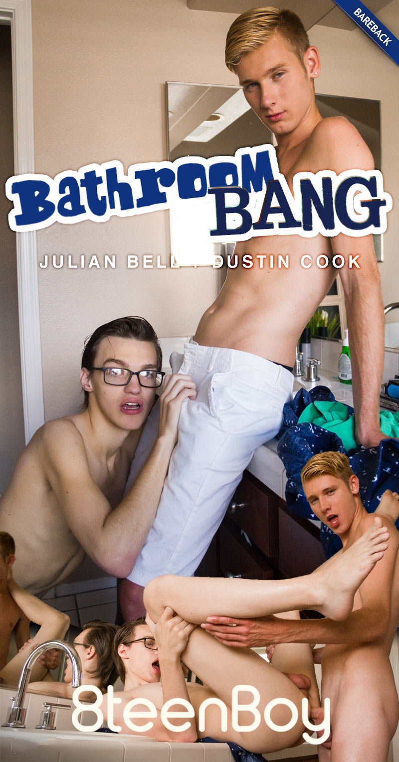 Bathroom Bang (Julian Bell and Dustin Cook Flip-Fuck) (Bareback) at 8teenBoy.com