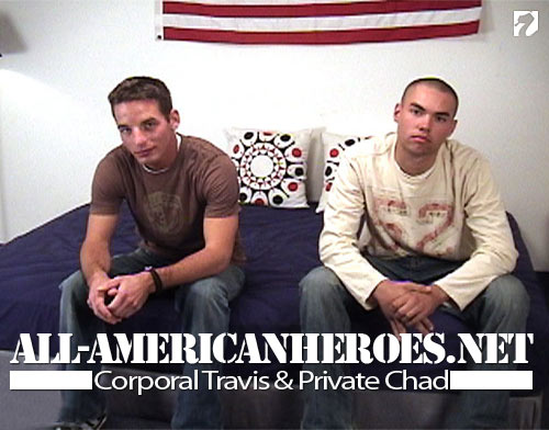 Corporal Travis & Private Chad at All-AmericanHeroes