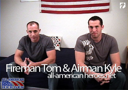 Fireman Tom & Airman Kyle at All-AmericanHeroes