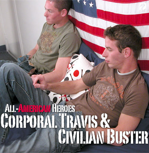 Corporal Travis & Civilian Buster at All-AmericanHeroes