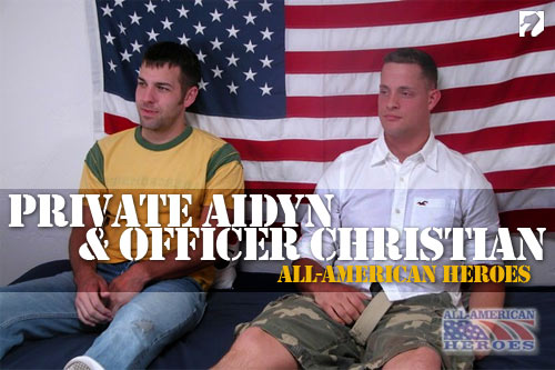 Private Aidyn & Patrolman Christian at All-AmericanHeroes