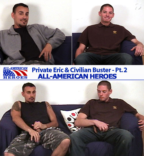 Private Eric & Civilian Buster at All-AmericanHeroes