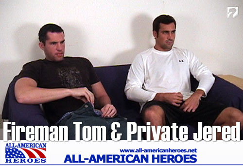 Fireman Tom & Private Jered at All-AmericanHeroes