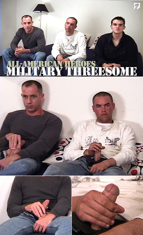 Military Threesome at All-AmericanHeroes