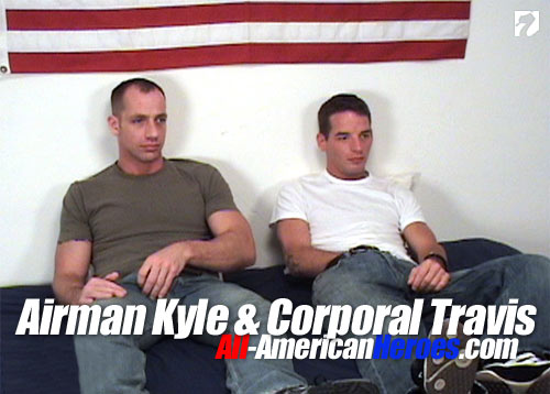 Airman Kyle & Corporal Travis at All-AmericanHeroes