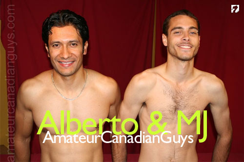 Alberto and MJ Side-By-Side at Amateur Canadian Guys