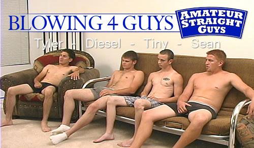 Tiny, Tyler, Diesel, Sean & Jackson at Amateur Straight Guys