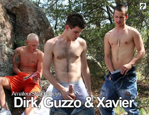 Dirk, Guzzo & Xavier at Amateur Straight Guys