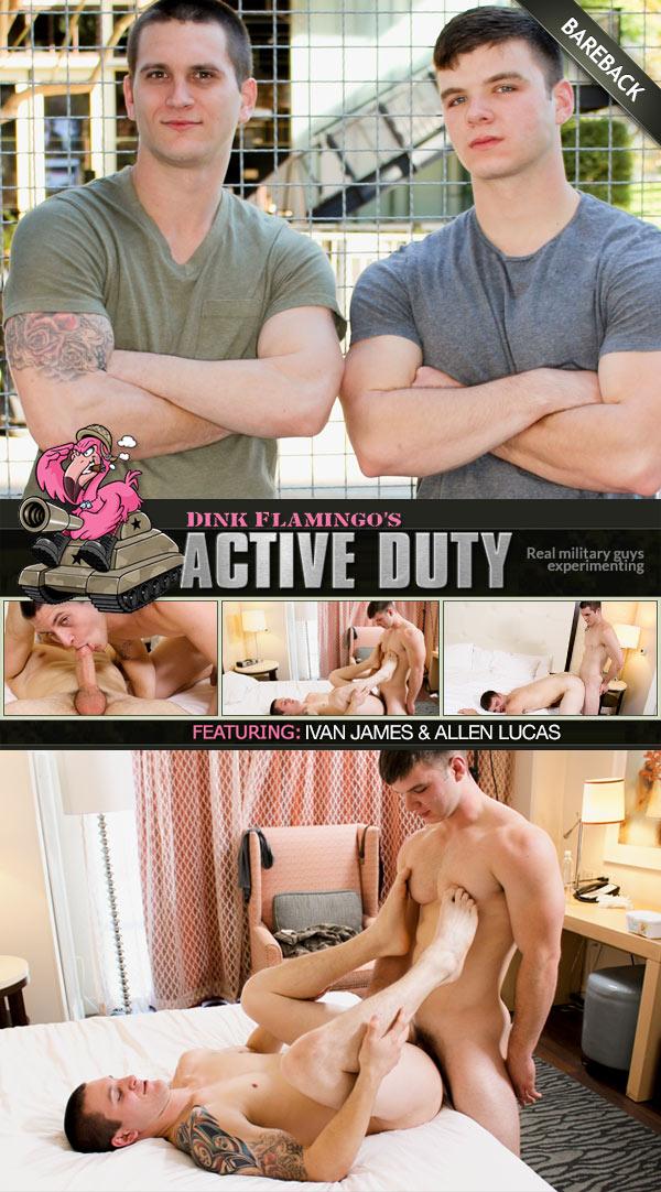 Ivan James & Allen Lucas (Bareback Flip-Fuck) at ActiveDuty
