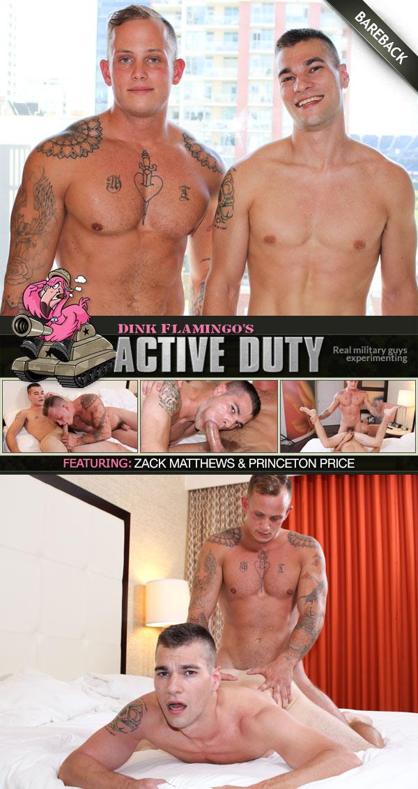 Zack Matthews Fucks Princeton Price at ActiveDuty