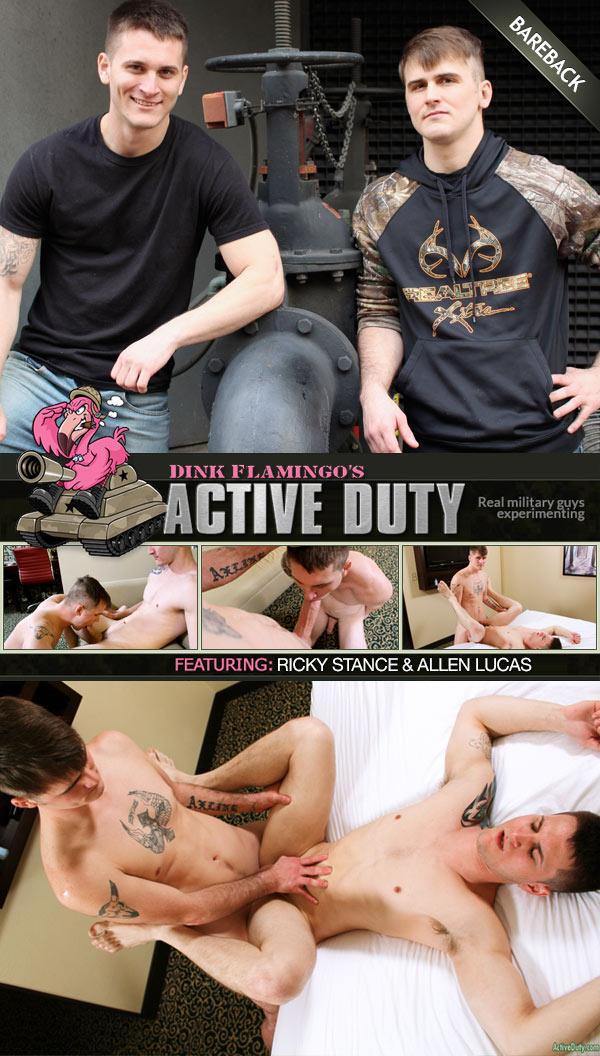 Ricky Stance Fucks Allen Lucas (Bareback) at ActiveDuty