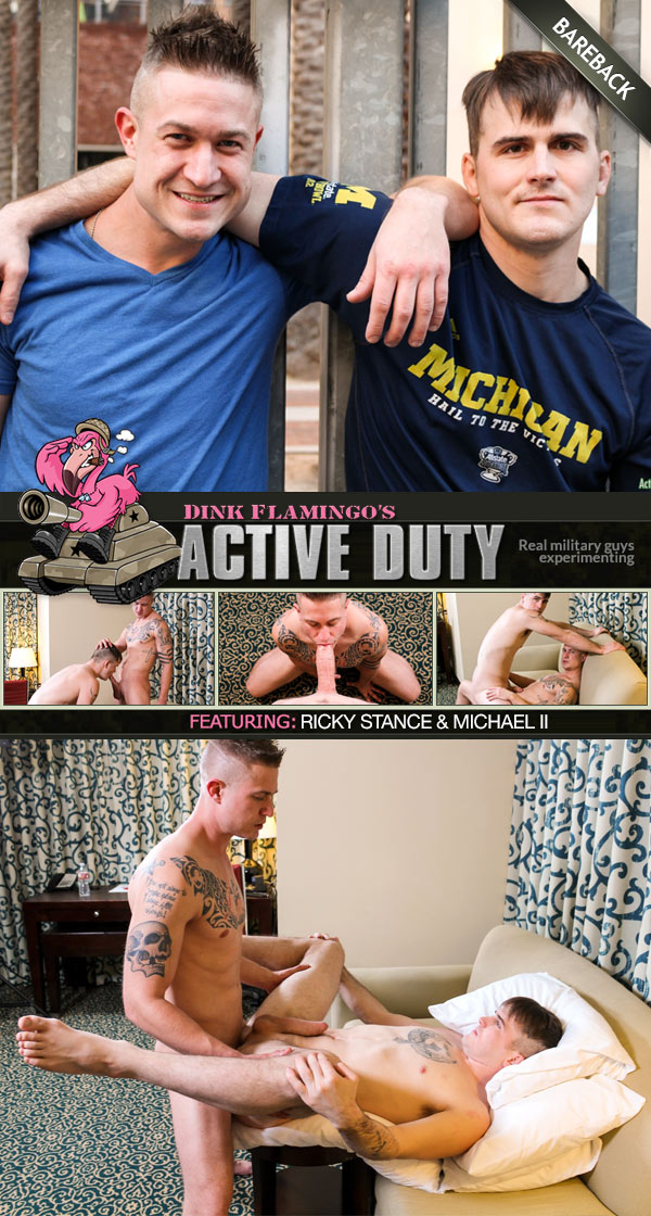 Michael II Fucks Ricky Stance (Bareback) at ActiveDuty