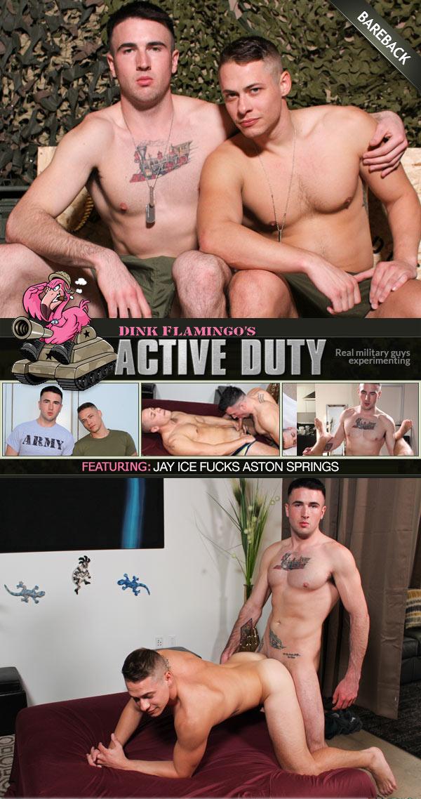 Jay Ice Fucks Aston Springs (Bareback) at ActiveDuty