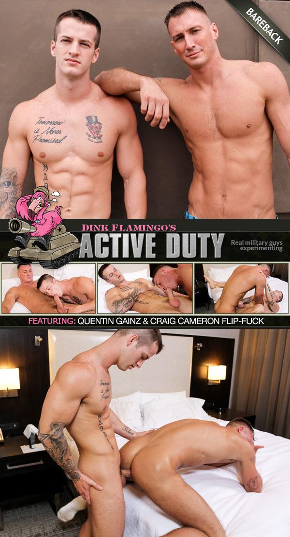 Quentin Gainz & Craig Cameron (Bareback Flip-Fuck) at ActiveDuty
