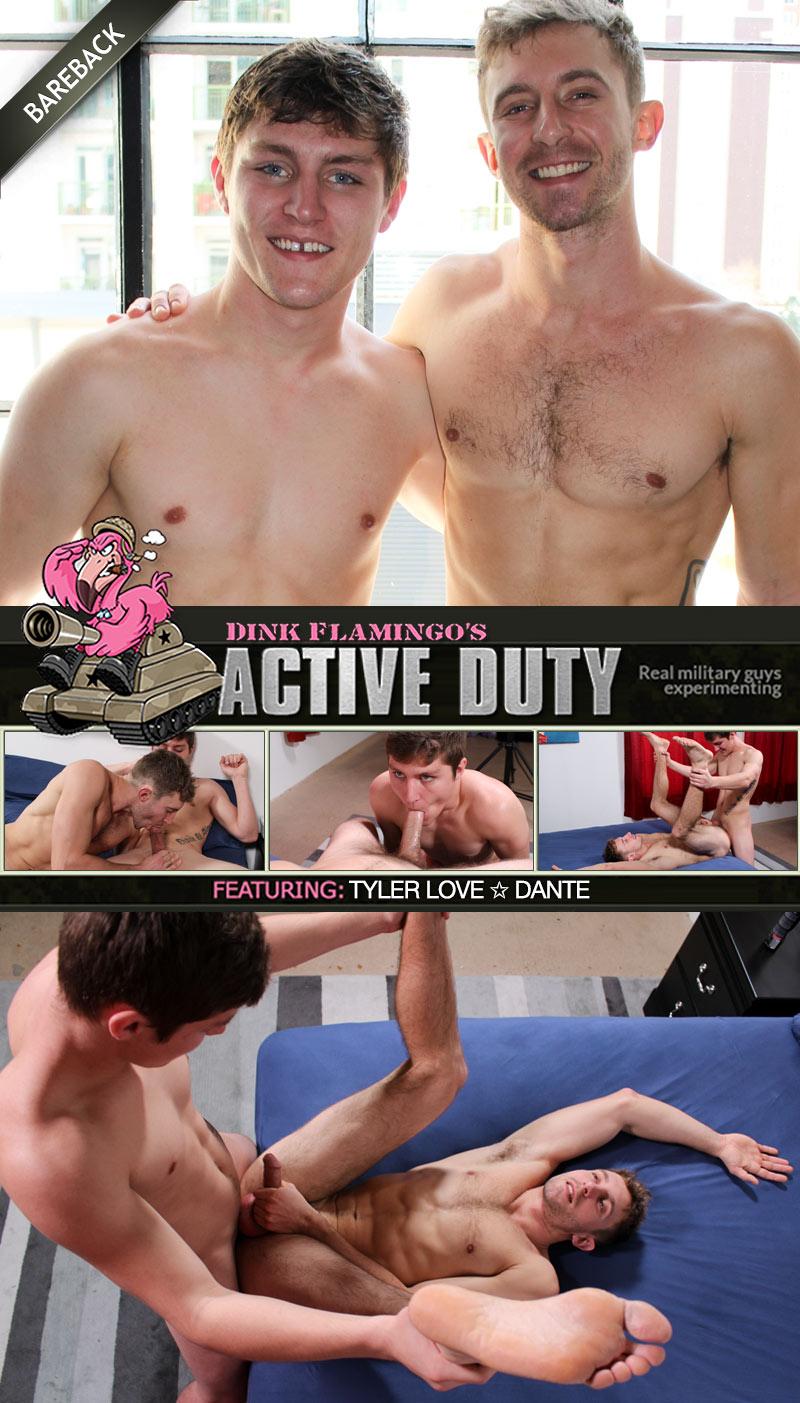 Tyler Love & Dante (Bareback Flip-Fuck) at ActiveDuty