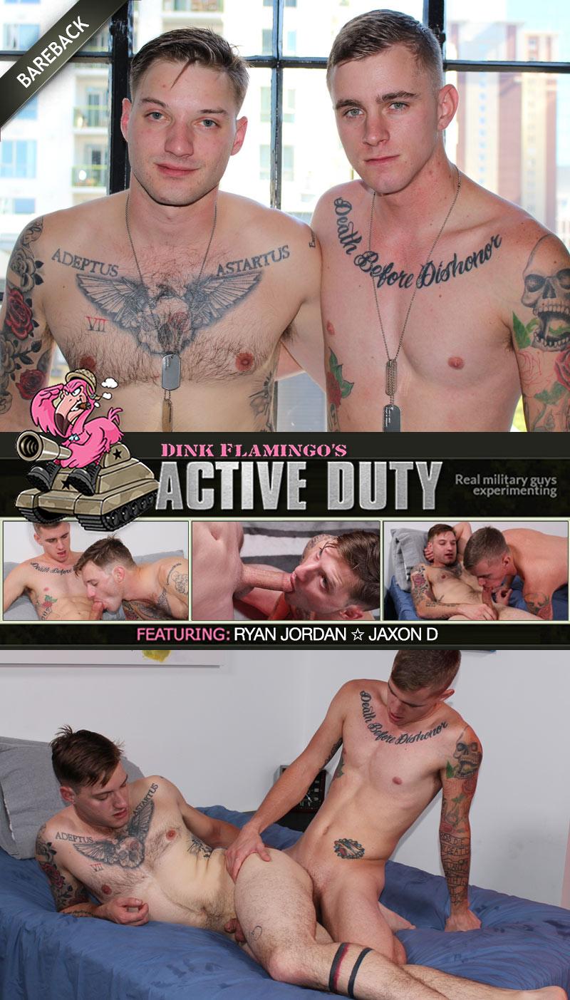 Ryan Jordan Fucks Jaxon D (Bareback) at ActiveDuty