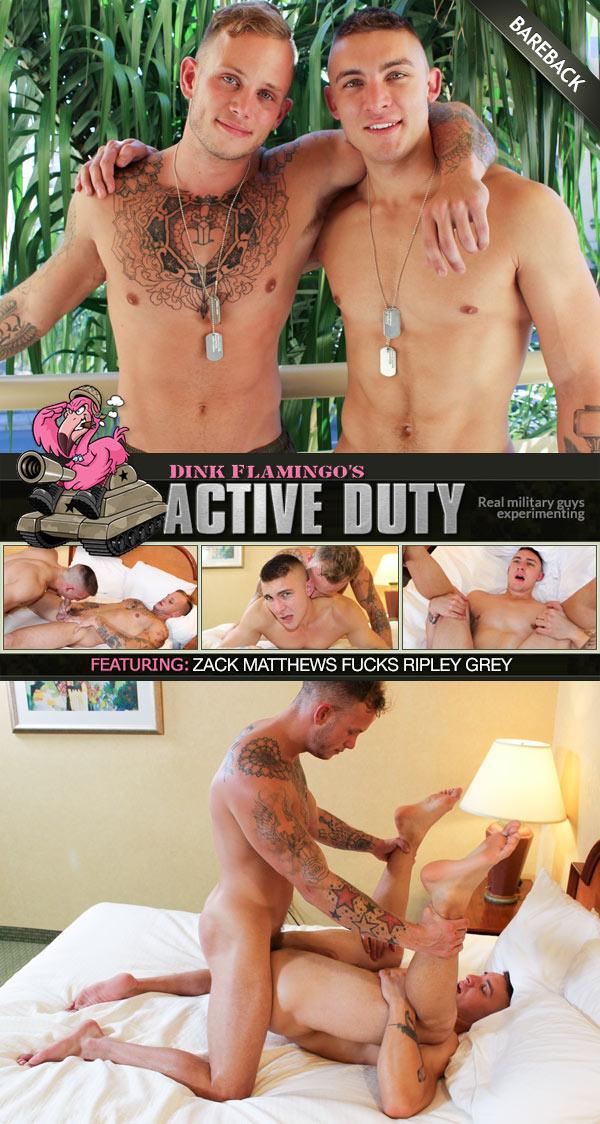 Zack Matthews Fucks Ripley Grey (Bareback) at ActiveDuty