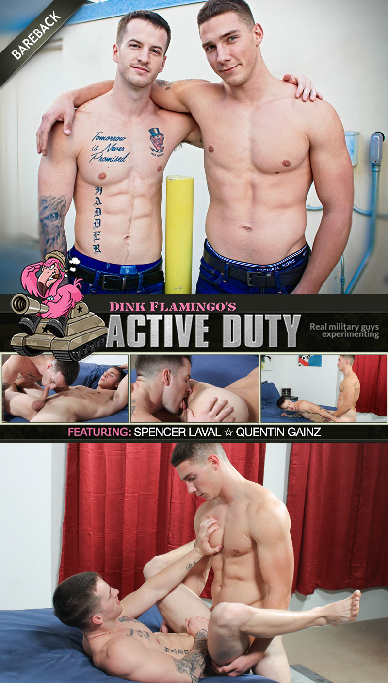 Spencer Laval Fucks Quentin Gainz (Bareback) at ActiveDuty