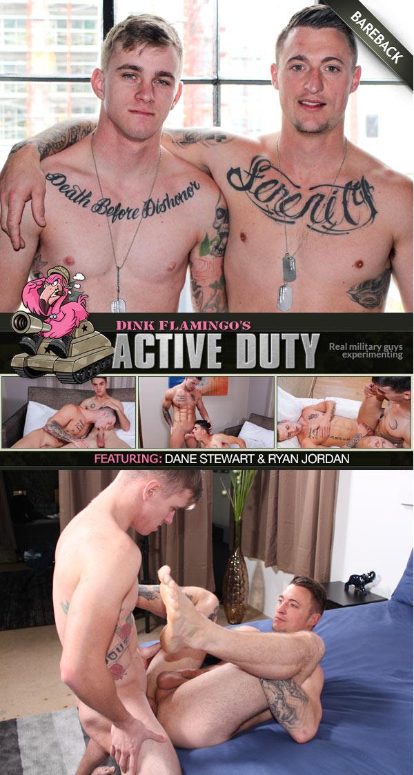 Dane Stewart & Ryan Jordan Bareback Flip-Fuck at ActiveDuty