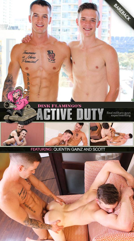 Quentin Gainz & Scott (Bareback Flip-Fuck) at ActiveDuty