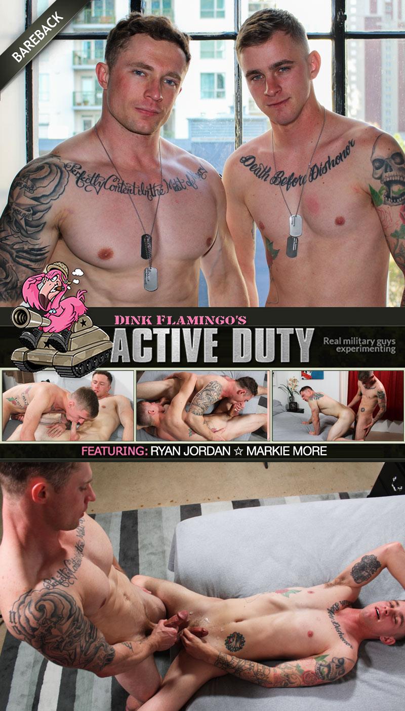 Ryan Jordan and Markie More (Bareback Flip-Fuck) at ActiveDuty