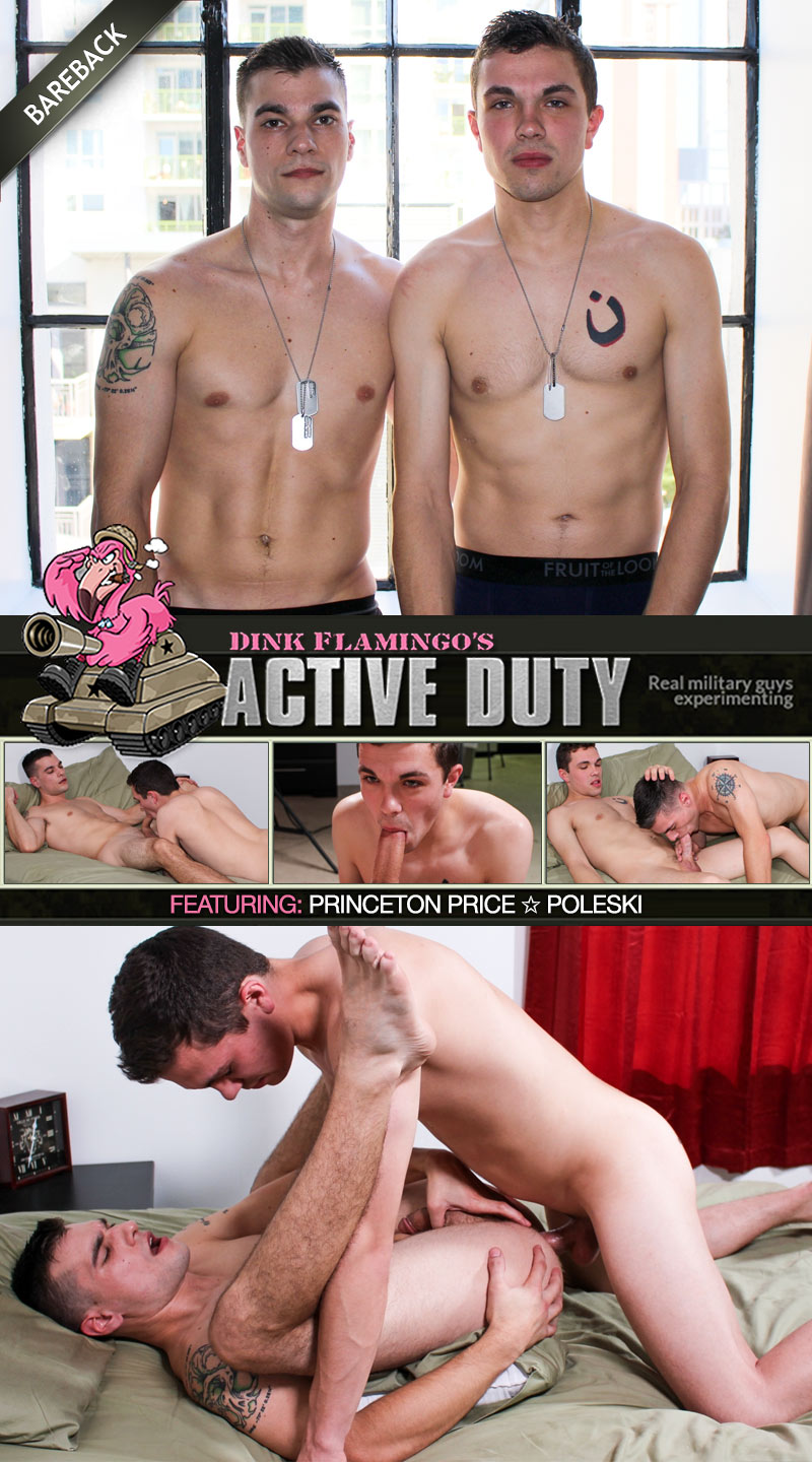 Poleski Fucks Princeton Price (Bareback) at ActiveDuty