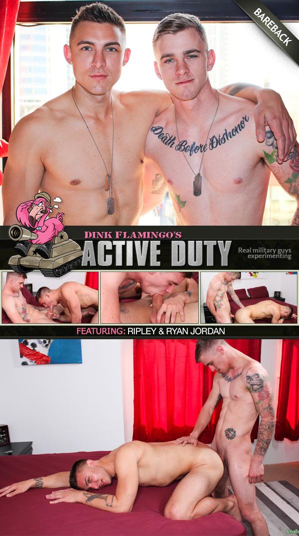 Ryan Jordan Fucks Ripley Grey (Bareback) at ActiveDuty