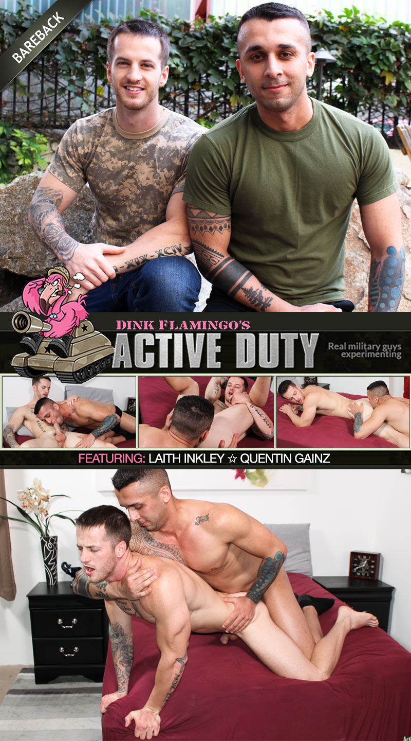 Laith Inkley Fucks Quentin Gainz (Bareback) at ActiveDuty