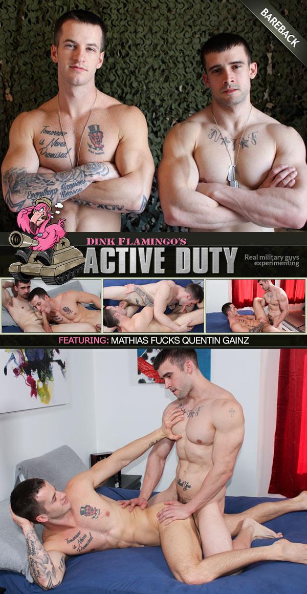 Mathias Fucks Quentin Gainz (Bareback) at ActiveDuty