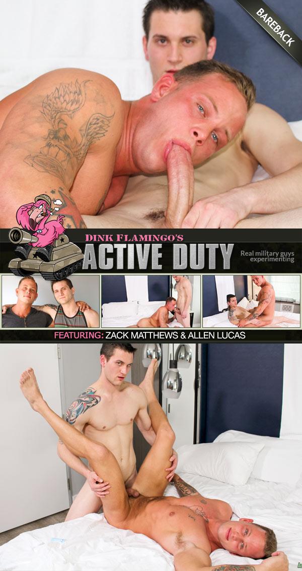 Allen Lucas Barebacks Zack Matthews at ActiveDuty