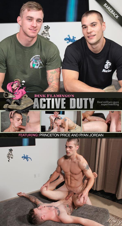 Active Duty: Princeton Price and Ryan Jordan (Bareback Flip-Fuck) at ActiveDuty
