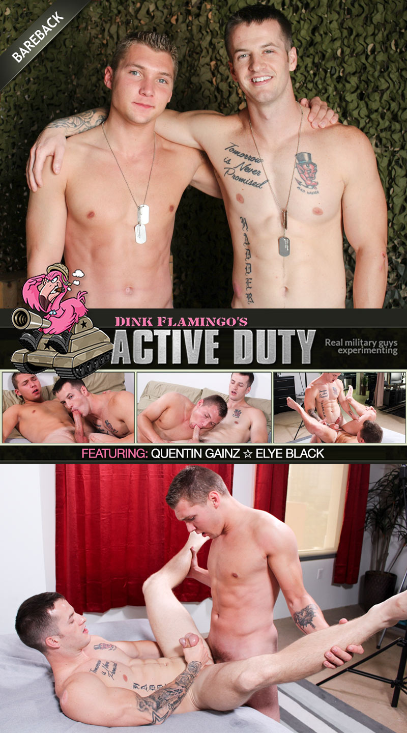 Quentin Gainz and Elye Black Flip-Fuck (Bareback) at ActiveDuty