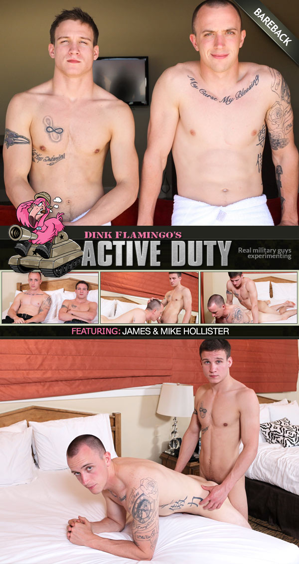 James & Mike Hollister (Bareback) at ActiveDuty