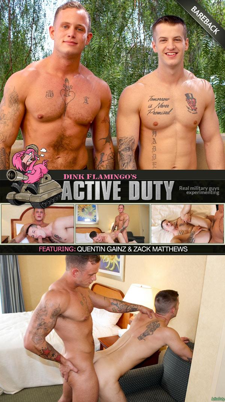 Zack Matthews Fucks Quentin Gainz (Bareback) at ActiveDuty