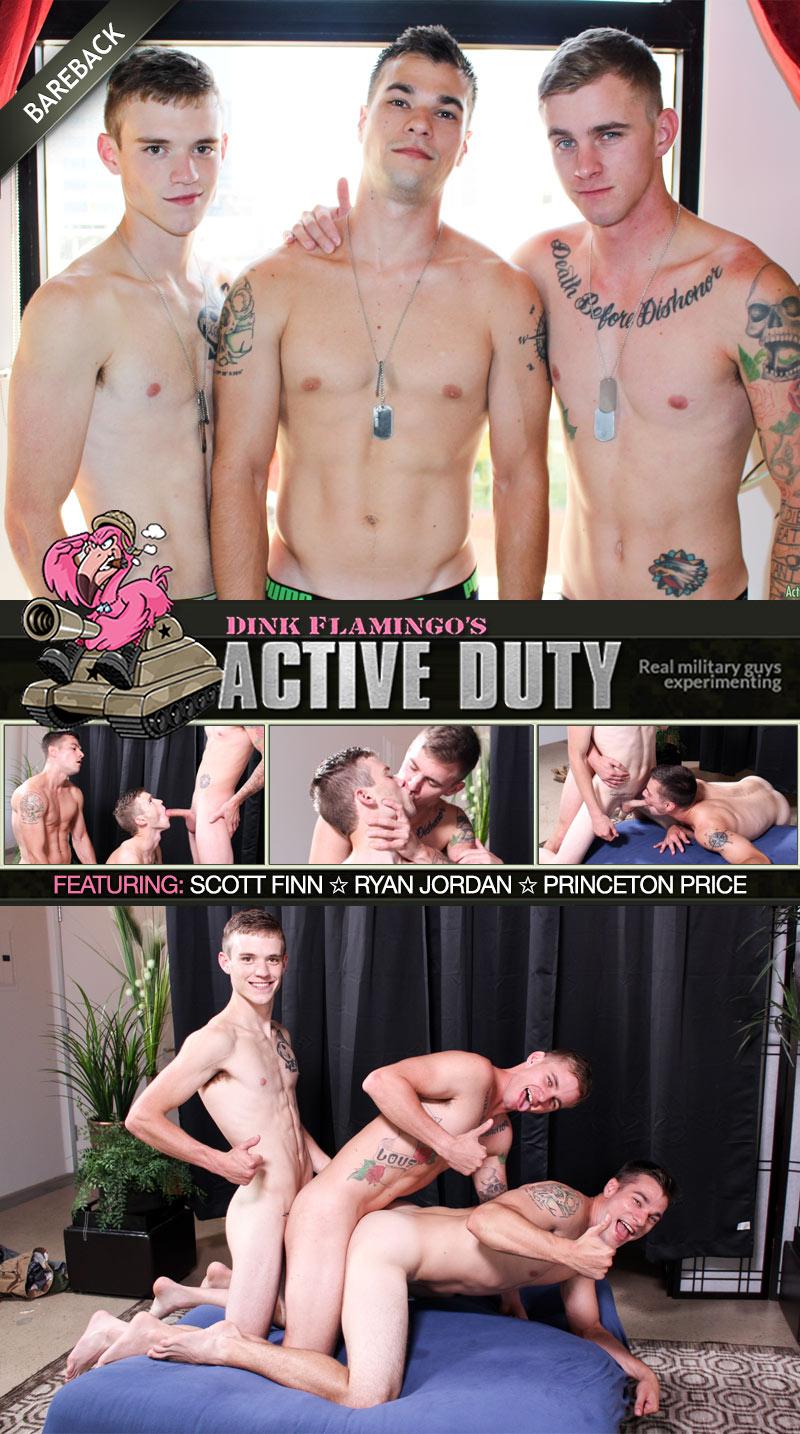 Scott Finn, Ryan Jordan & Princeton Price (Bareback) at ActiveDuty