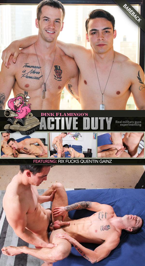 Rix Fucks Quentin Gainz (Bareback) at ActiveDuty