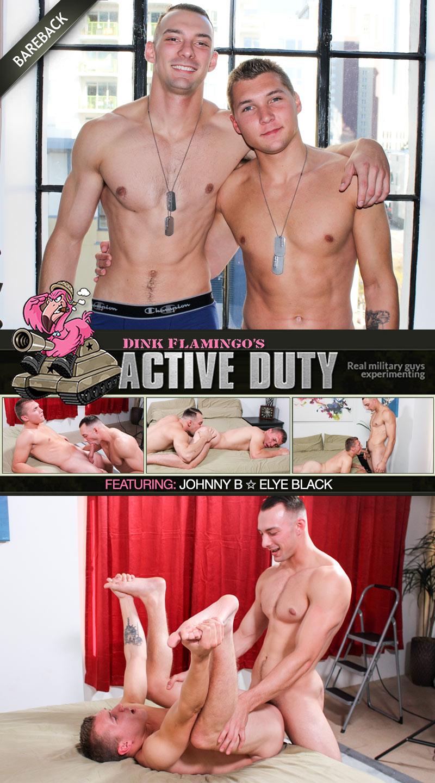 Johnny B Fucks Elye Black (Bareback Flip-Fuck) at ActiveDuty