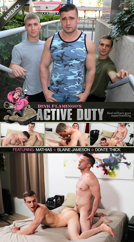 Blaine Jameson and Donte Thick Pleasure Mathias at ActiveDuty