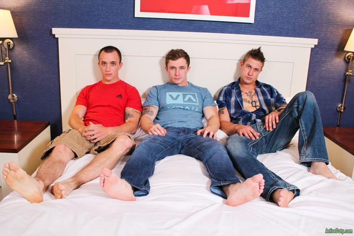 Markie More, Michael & James (Bareback) at ActiveDuty