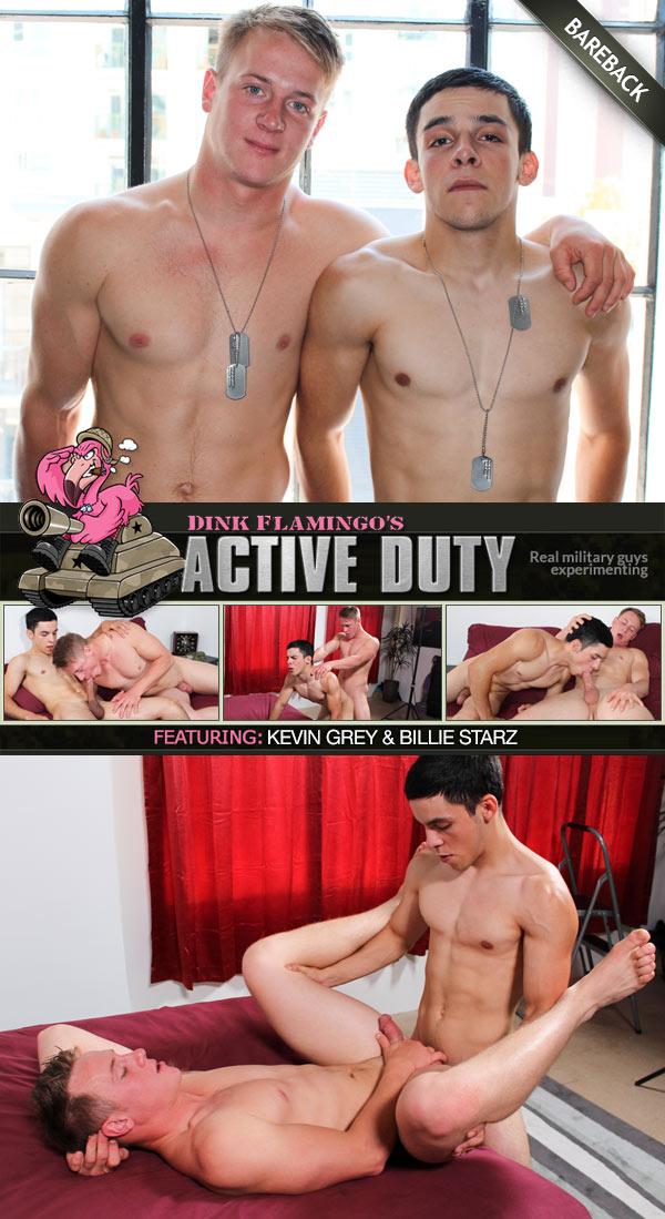 Kevin Grey & Billie Starz (Bareback Flip-Fuck) at ActiveDuty