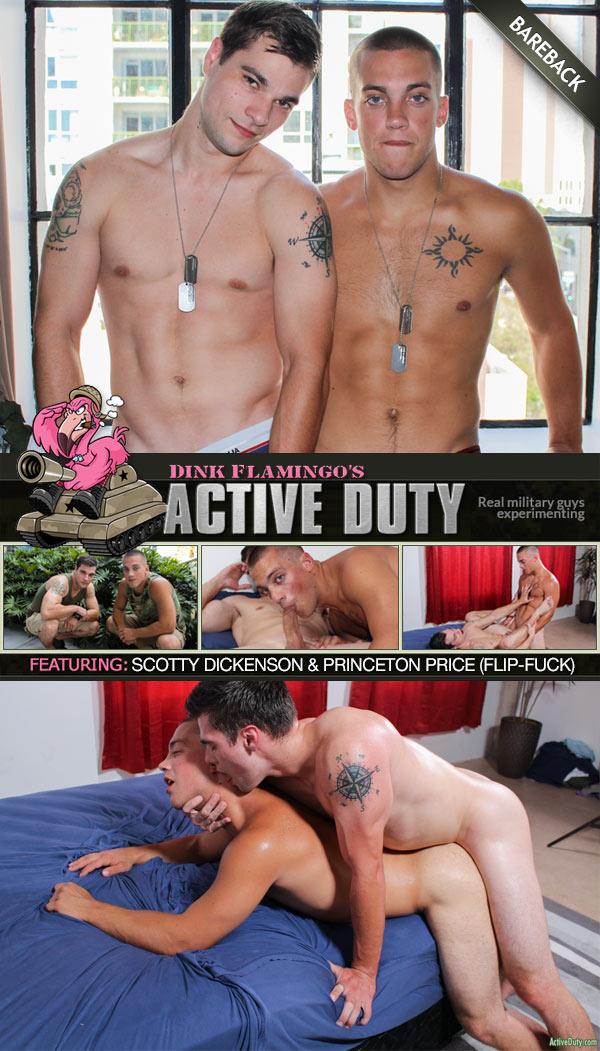 Scotty Dickenson & Princeton Price (Bareback Flip-Fuck) at ActiveDuty
