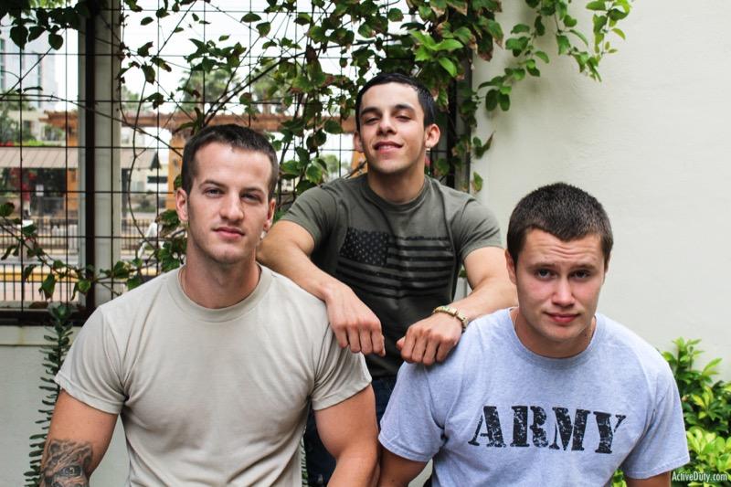 Billie Starz, Quentin Gainz & Damien Nichols (Bareback Threeway) at ActiveDuty