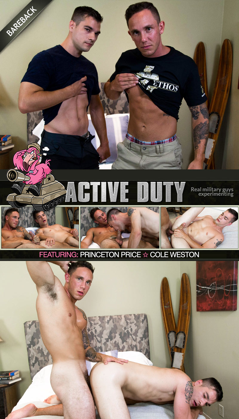 Cole Weston Fucks Princeton Price at ActiveDuty