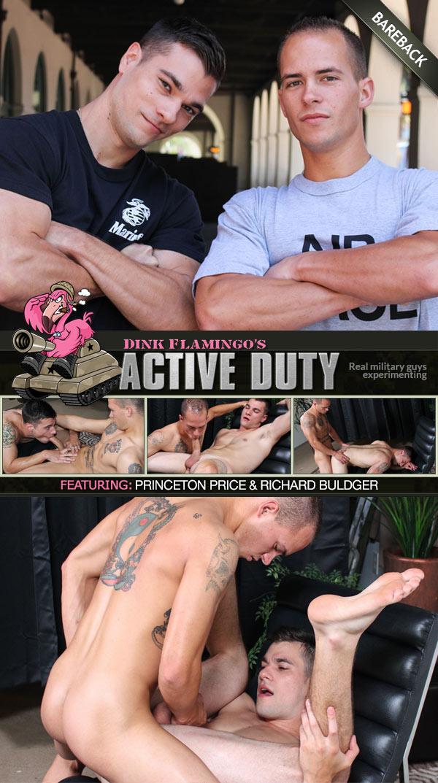 Princeton Price & Richard Buldger (Bareback Flip-Fuck) at ActiveDuty