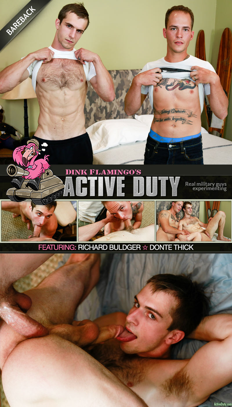 Richard Buldger Fucks Donte Thick (Bareback) at ActiveDuty