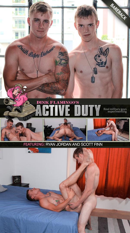 Ryan Jordan and Scott Finn Flip-Fuck Bareback at ActiveDuty