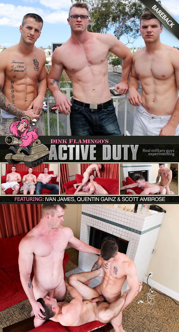 Ivan James, Quentin Gainz & Scott Ambrose (Bareback) at ActiveDuty